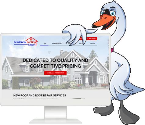 Web Roofing Swan Mascot Free Mockup 100%